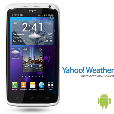 yahoo weather android پیش بینی وضعیت آب و هوا با نرمافزار اختصاصی Yahoo! Wearher 1.0.9   اندروید
