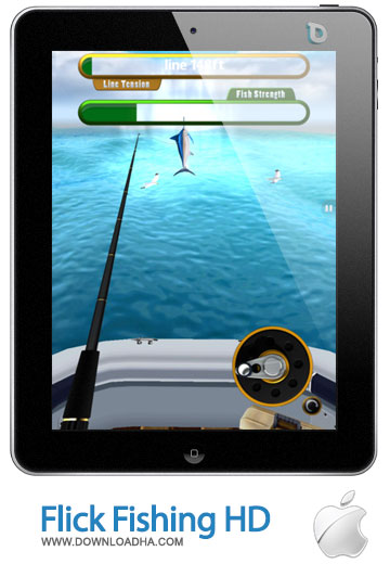 flick fishing hd بازی ماهیگیری زیبای Flick Fishing HD 1.5   آیپد
