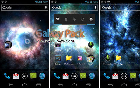 galaxy pack پک تصاویر کهکشان Galaxy Pack 1.7   اندروید