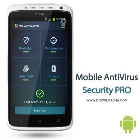 mobile security pro android آنتی ویروس حرفهای AVG Mobile Antivirus Security Pro   اندروید