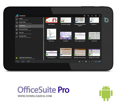 officesuite pro android مجموعه کاربردی OfficeSuite Pro 7.0.1166   اندروید