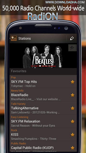 radion android رادیوی اینترنتی RadiON 3.0.5   اندروید