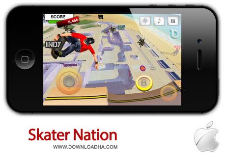 skater nation بازی زیبا و سرگرم کننده Skater Nation 1.2.1   آیفون و آیپد