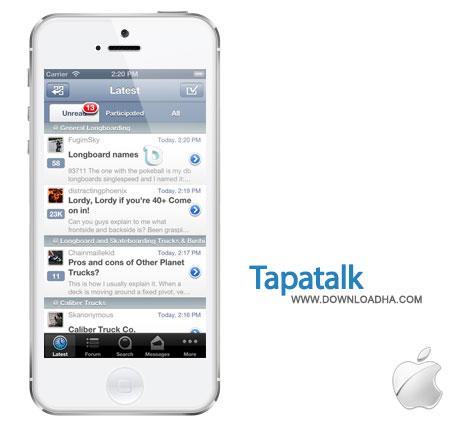 tapatalk دسترسی راحتتر به انجمنها با Tapatalk 1.15.1   آیفون و آیپد