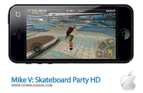 mike v sakteboarding بازی اسکیت سواری Mike V: Skateboard Party HD 1.2.4   آیفون و آیپد