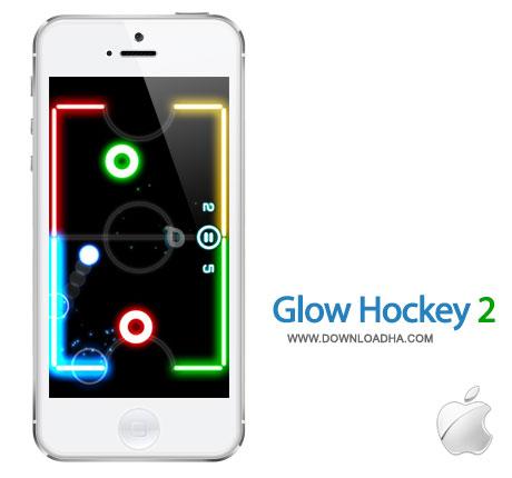 glow hockey بازی جذاب و چند نفره Glow Hockey 2.2.7   آیفون