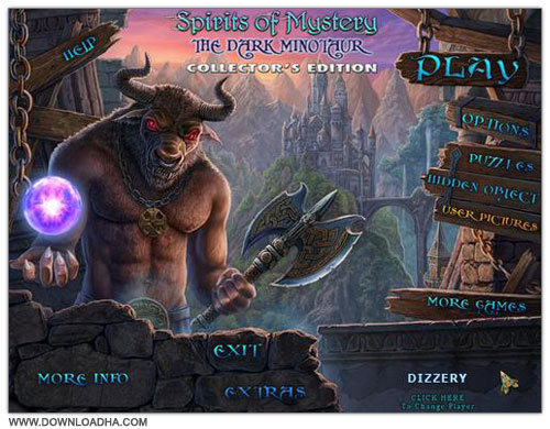 Minotaur Cover دانلود بازی ماجرایی Spirits of Mystery 3: The Dark Minotaur برای PC