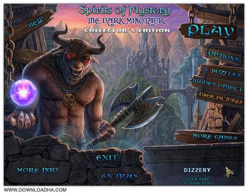 Minotaur Cover دانلود بازی ماجرایی Spirits of Mystery 3: The Dark Minotaur برای PC