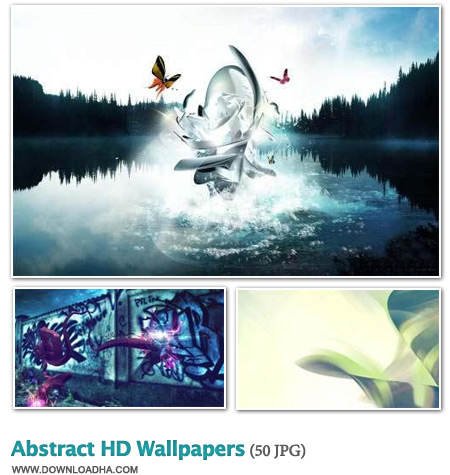 Abstracts دانلود مجموعه 50 والپیپر گرافیکی و هنری Abstract HD Wallpapers