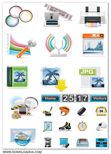 Iconz مجموعه آیکون هایی زیبا با عنوان Icons & Objects for Vector Design