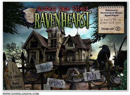 Raven Cover دانلود بازی Mystery Case Files 3 Ravenhearst برای PC