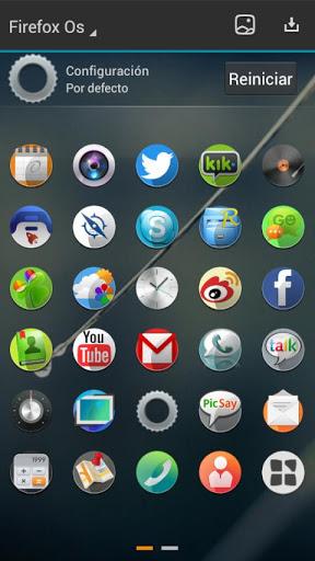 FirefoxOS screenshots 02 لانچر Firefox Os Next Launcher Theme v1.0   اندروید