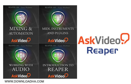 aks video reaper آموزش کامل کار با نرم افزار Reaper با Ask Video: Reaper