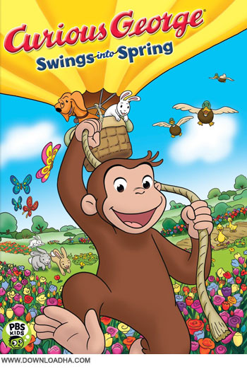 curious george swings into spring cover   Curious George Swings into Spring 2013