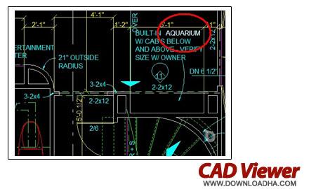 cad viewer نمایش و پرینت نقشه های ساختمانی CAD Viewer 10.A.22