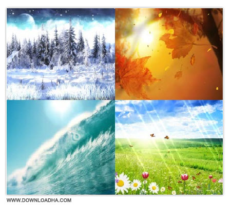Four Seasons Screensaver دانلود اسکرین سیورهای فصل ها Four Seasons Screensaver