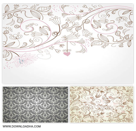 Ornamental Backgrounds مجموعه وکتورهای پس زمینه Ornamental Backgrounds