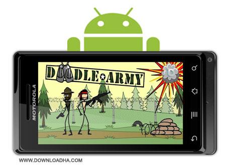 Appsomniacs LLC Doodle Army بازی زیبا و اکشن Appsomniacs LLC Doodle Army v1.4   آندروید