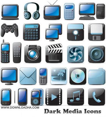 dark media icon